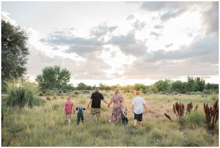 Family pictures and New Mexico Sunsets.