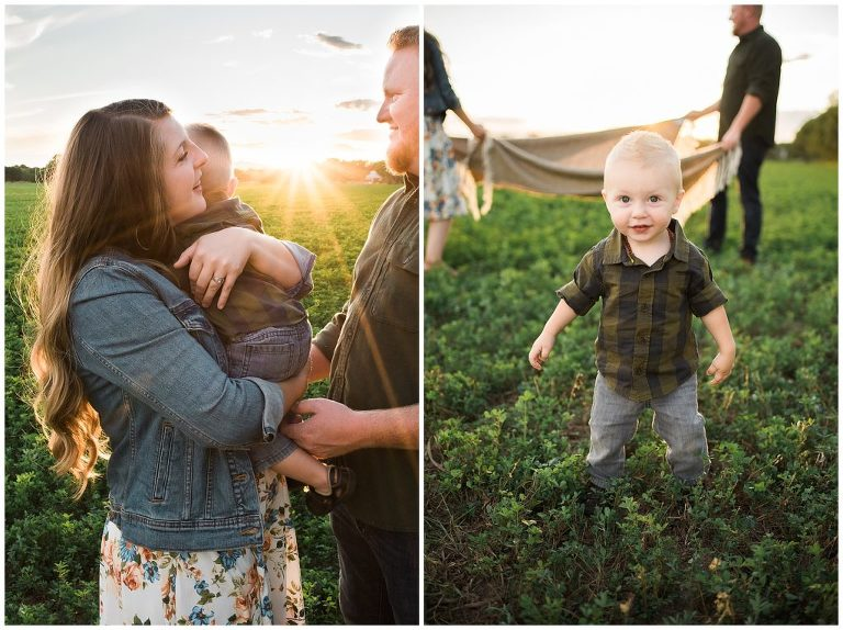 Picture of a bursting sunset with a small family- Best Albuquerque Family Photographer