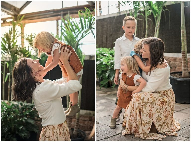 Motherhood pictures in a greenhouse | Albuquerque Photographer