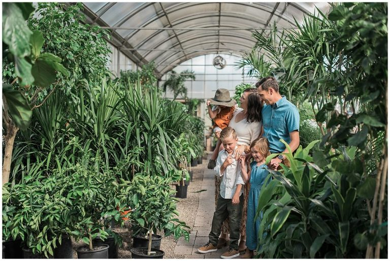Family pictures taken in a greenhouse | Albuquerque's Best Family Photographer