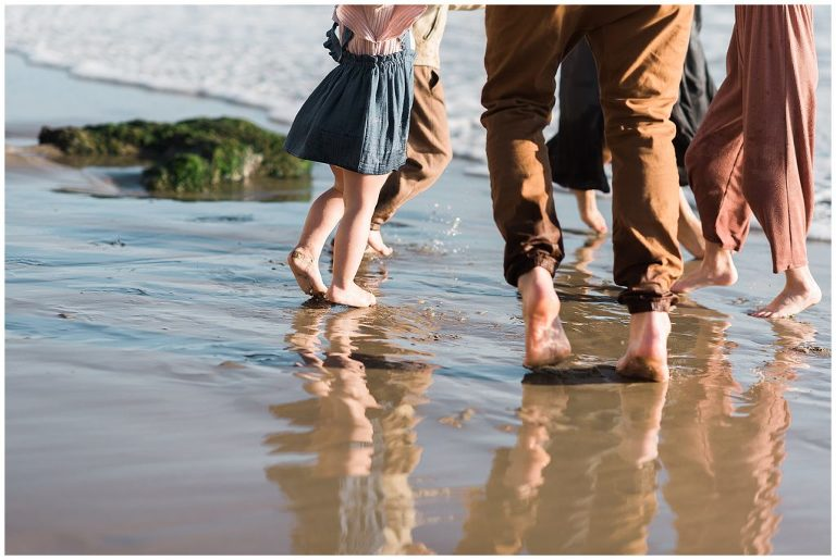 Toes in the sand with Vista Family Photographer